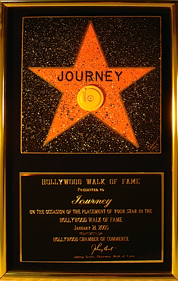 Journey - 'Walk Of Fame' plaque