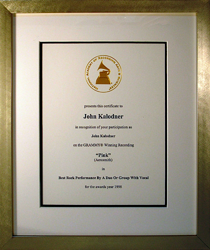 Grammy Nomination - Aerosmith 'Pink'