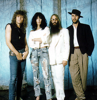 Jon Bon Jovi, Cher, JDK & Desmond Child - June 1987