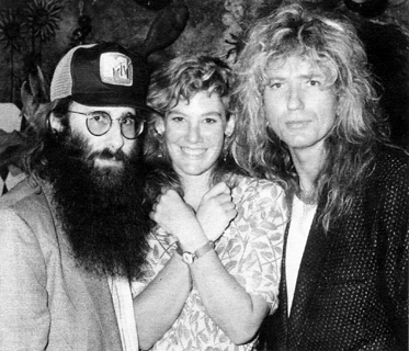 JDK, Carolyn Heldman (former MTV VJ) & David Coverdale (Whitesnake) - NYC, NY - September 1988