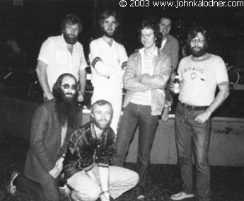 JDK & Genesis with their Manager Tony Smith (upper left) - May 1980