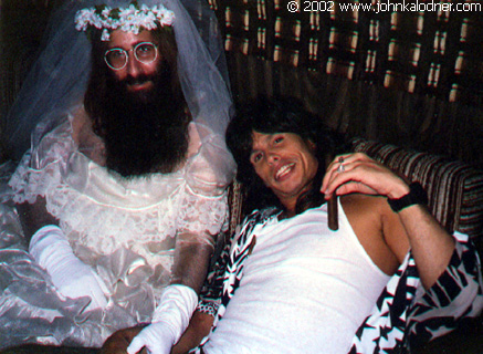 JDK in his NOTORIOUS Wedding Gown & Steven Tyler on the set of Aerosmith's 'Dude Looks Like A Lady' - September 1987