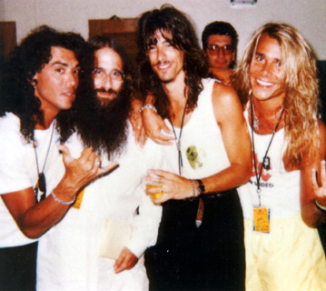 Stephen Pearcy (RATT), JDK, Warren DeMartini (RATT) & Mike Tramp (White Lion) - Late 1980s