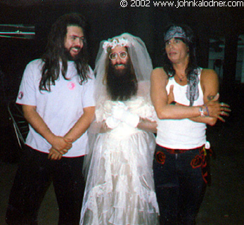 Rick Rubin, JDK & Steven Tyler on the set of Aerosmith's 'Dude Looks Like A Lady' - September 1987