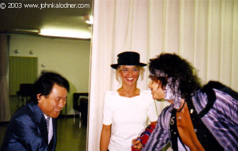 Sergio Udo ('Mr. Udo' FAMOUS Japanese Promoter), Theresa & Steven Tyler - Japan - 1990