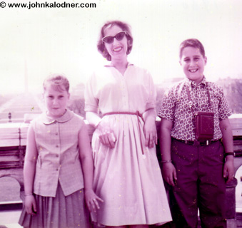 JDKs sister Ellen, his mom Corrine & JDK - Washington D.C. - 1961
