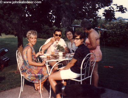 JDK with his parents Corrine & Dr. Alfred Kalodner and their friends - Gladwyne, PA - Summer 1965