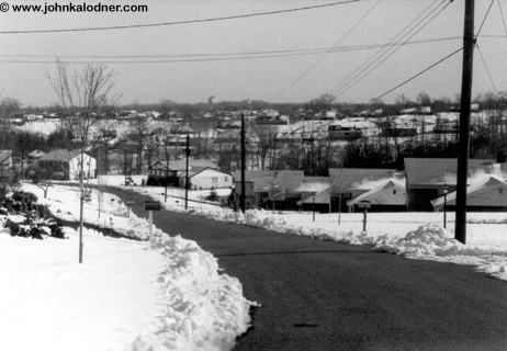 The street where JDK grew up - PA - Winter early 60s
