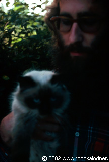 A boy and his cat! - 1973