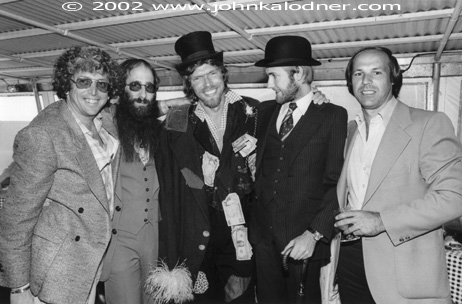 Jerry Greenberg (who gave JDK his start in A & R at Atlantic), JDK, Richard Branson (Chairman of the Virgin Music Group), Ken Berry (former Chairman of EMI/Virgin Records) & Dave Glew (Chairman of Epic Records) at the party for the launch of Virgin Records in the US thru Atlantic Records - 1978 New York City, NY