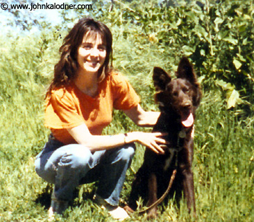 Martha Quinn (former and one of the ORIGINAL MTV VJs) & her doggie - 1989