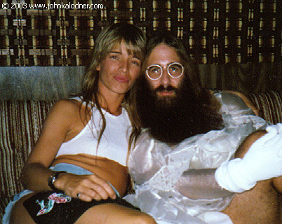 JDK & Theresa Tyler on the set of Aerosmiths Dude (Looks Like A Lady) - September 1987