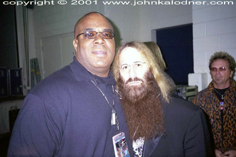 AD (Anthony Davis-Aerosmith Security) & JDK (Joey Kramer in the background) - October 2001