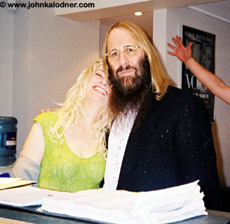 Andrea Kerr & JDK @ the Sanctuary Offices - London, England - October 2004