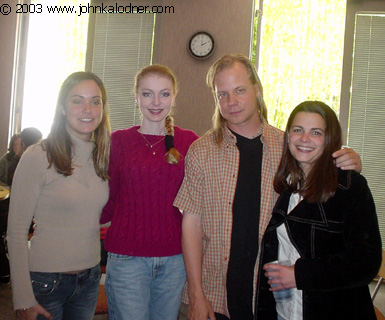 Dayna-Rae Vecsi (JDKs Assistant), Eva Parker (Licensing Coordinator), Rod S. Kukla (A & R Scout for Columbia) & Kate Naylor at Sony Music - Santa Monica, CA - April 25th, 2003
