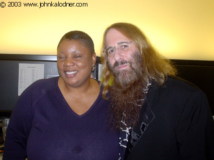 Donna Haynes (Columbia Promotions Coordinator) ) & JDK at Sony Music - Santa Monica, CA - April 25th, 2003