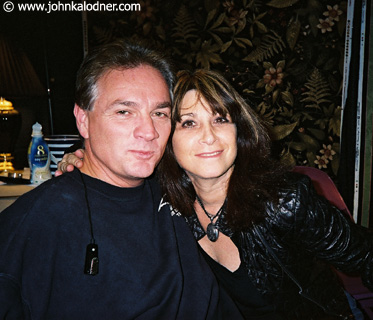 Donny Wightman (Aerosmith Chief of Security, a really nice guy & famous Boston Police Officer) & Terry Hamilton (Tom Hamiltons Wife) backstage at Aerosmith - New York - November  2003