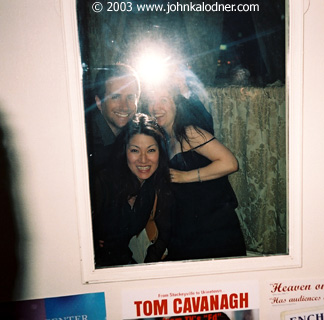 JDK (blinded by the flash), Gregg & Mina Lynn Wattenberg and Samantha Thompson - NYC - July 2003