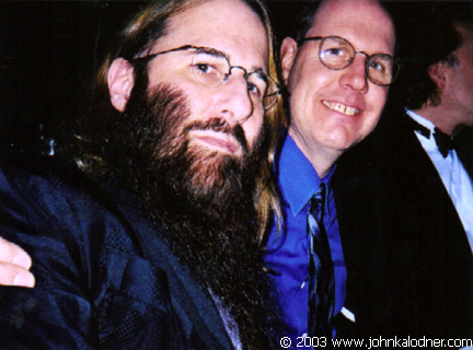 JDK & Jeff Jones (President of Sony/Legacy) @ the Rock N Roll Hall Of Fame Induction Ceremony - NYC - March 10th, 2003