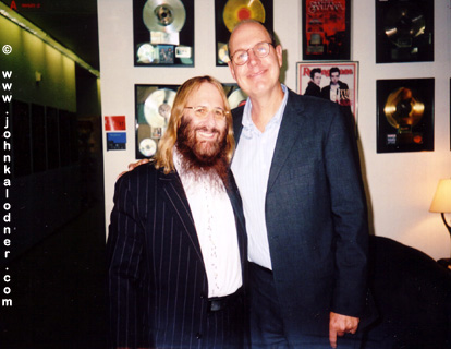 JDK (he smiles!) & Jeff Jones (a good friend of JDKs & President of Legacy) @ the Sony-BMG Music Building - NYC - September 2005