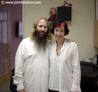JDK & Leslie Langlo (A&R Coordinator) in the new office at Sanctuary Records - Santa Monica, CA - October  2003