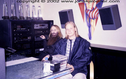 JDK & Rod S. Kukla listening to all the demos that come in every week - December 2001