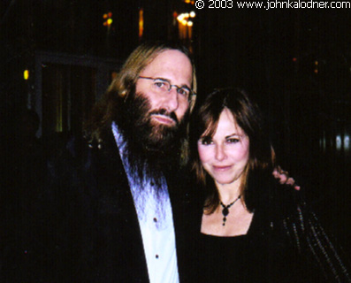 JDK & Sherry Ring-Ginsberg (Senior V.P. of Publicity - Elektra Records) @ the Rock N Roll Hall Of Fame Induction Ceremony - NYC - March 10th, 2003