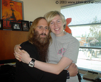 JDK & Stephanie Harty (Associate Director of Alternative Promotion) at Sony Music - Santa Monica, CA - April 25th, 2003