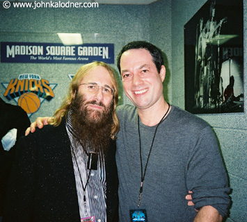 JDK & Will Botwin (President of Columbia Records) backstage at Aerosmith - New York - November  2003