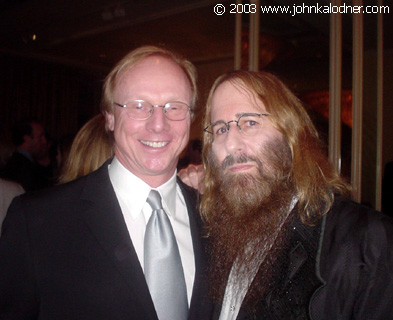 Jeff Aldrich (Sr. VP of A & R at Warner Brothers Records) & JDK at the BMI Pop Awards - Los Angeles, CA - May 13th, 2003