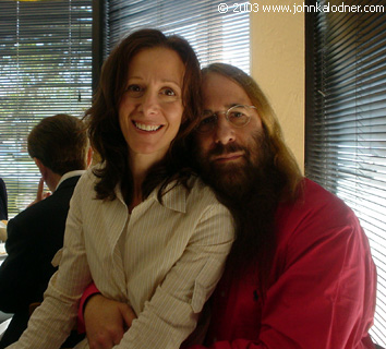 Jody Gerson (Executive VP of US Creative at EMI Music Publishing) & JDK - Los Angeles, CA - April 23rd, 2003