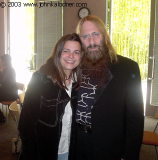 Kate Naylor & JDK (Executive Departmental Assistant of Music Licensing) at Sony Music - Santa Monica, CA - April 25, 2003