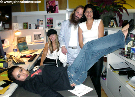 Just a regular Friday afternoon at Sanctuary Management with Larissa Friend, Brandi Whitmore, JDK & Sabrina Khan - Los Angeles, CA - July 22nd, 2005