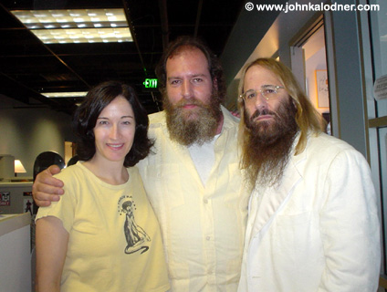 LeslieLanglo (A&R Coordinator), Mike Schnapp & JDK@ the Sanctuary Offices - Los Angeles, CA - June 30th, 2005