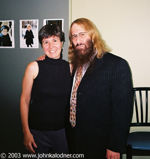 Lorena Lopes (VP of Operations @ Columbia Records) & JDK - July 2003