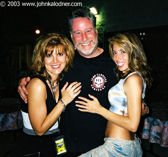 Lynn Mays, Scotty Ross (Saliva Tour Manager) & Angela Paul backstage at Aerosmith - Philadelphia, PA - August 29th, 2003