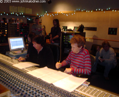 Marc Tanner (Producer) & David Campbell (Arranger) in the recording process of the Star Search sessions with Jake Simpson @ Cello Studios - February 14th, 2003