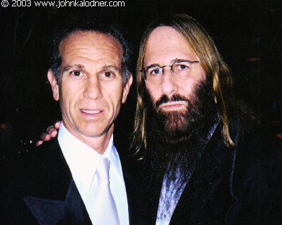 Michael Ostin (Principal of Dreamworks Records) & JDK @ the Rock N Roll Hall Of Fame Induction Ceremony - NYC - March 10th, 2003