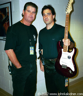 Mike Sprague (Monitor Engineer for Aerosmith) & John Bionelli (Assistant Tour Manager for Aerosmith) - Las Vegas, NV - November 9th, 2002