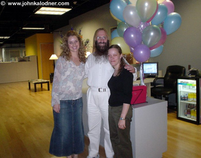 Monica Cornia (aka Cookies), JDK & Diane Burk (JDKs new assistant) celebrating Cookies last day at Sanctuary L.A. - Los Angeles, CA - July 28, 2004