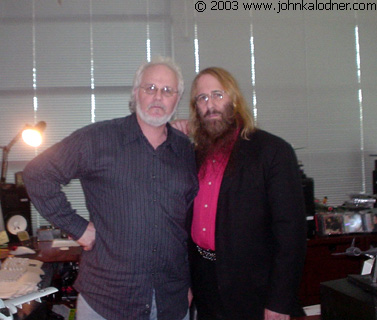 Peter Fletcher (Product Manager for Columbia Records) & JDK - Santa Monica, CA - April 2nd, 2003