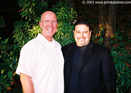 Sandy Hutchins (Owner of Angel City Gym) & Michael Monteroso (Owner of The Workout Warehouse) in Los Angeles, CA - July 2003