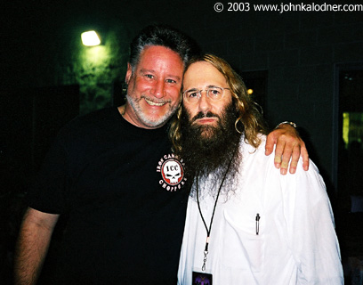 Scotty Ross (Saliva Tour Manager)  & JDK backstage at Aerosmith - Philadelphia, PA - August 29th, 2003
