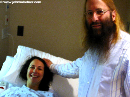 Stacy (Satz) Sarner & JDK preparing for the delivery of her daughter - Los Angeles, CA - October 10, 2005