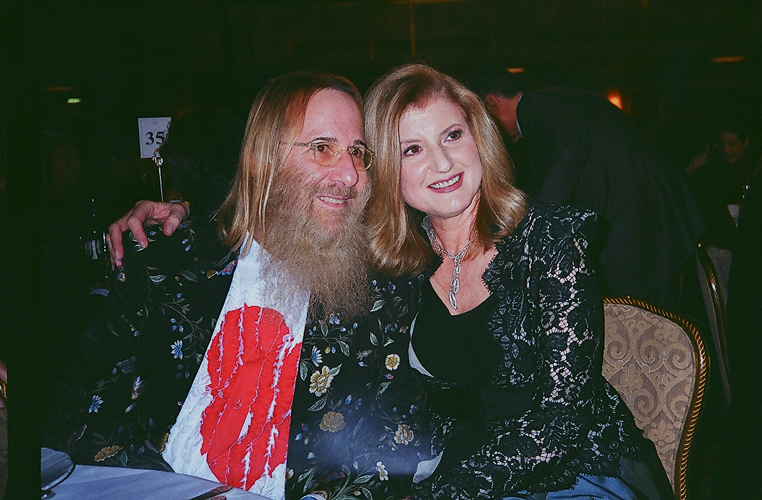 JDK and Arianna Huffington @ Geffen's Rock & Roll Hall of Fame Induction, NY - March 15, 2010