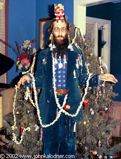JDK as a Christmas Tree (*photo taken by Rob Hyman of The Hooters - decorated by Marcy Kolbach & Emma Smith) - Philadelphia, PA - Christmas 1973
