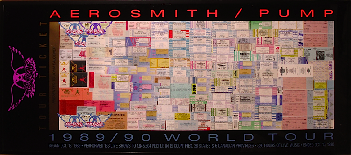 Aerosmith - Tickets from the Pump World Tour