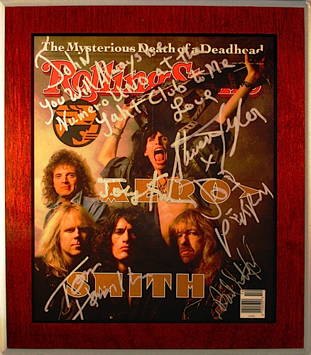 Aerosmith - Rolling Stone Cover Signed