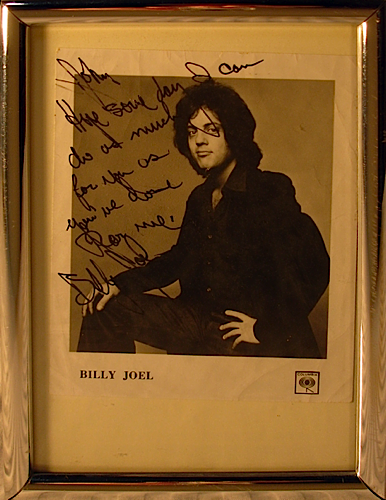 Billy Joel - signed photo