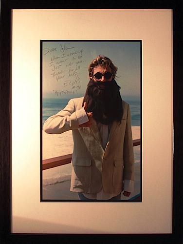 Jon Bon Jovi signed photo - with JDK beard